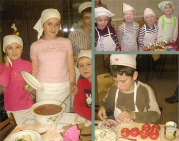 Friends of Russian Orphans FORO Russian Orphans learning to cook